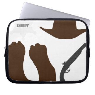 Wild West Sheriff Laptop Sleeve