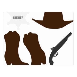 Wild West Sheriff Postcard