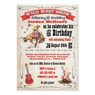 Wild West Show Birthday Party Invitation Poster