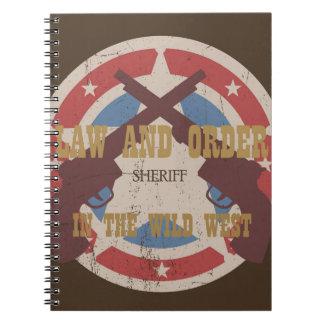 Wild West Spiral Notebook