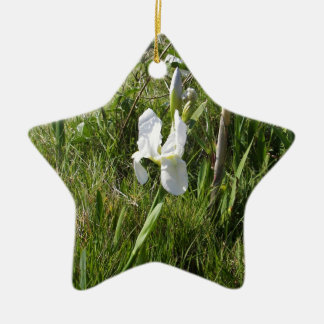 Wild White Canna Lily Christmas Ornament