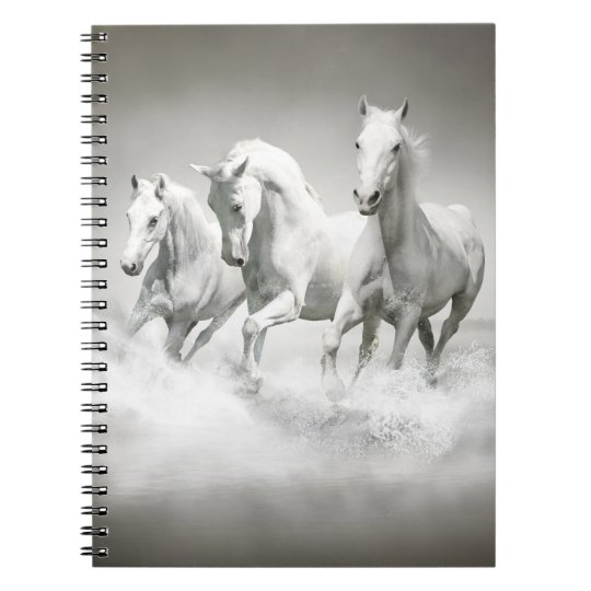 Wild White Horses Notebook