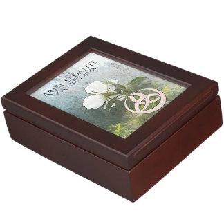 Wild White Rose & Triquetra Handfasting Cord Box