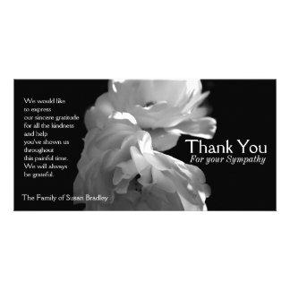 Wild White Roses 2 Sympathy Thank You Photo Cards