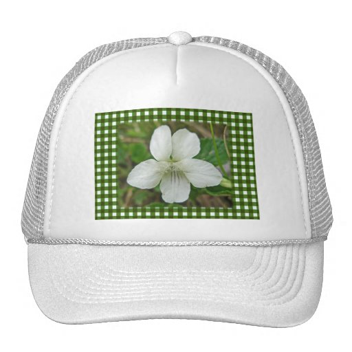 Wild White Violet Coordinating Items Mesh Hats