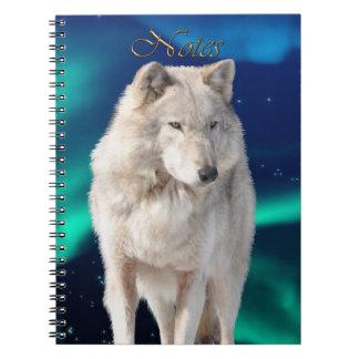 Wild White Wolf Wildlife-supporter Notebook