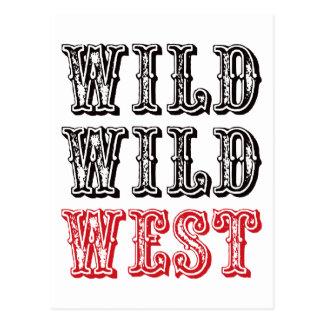 Wild Wild West - Red Post Cards
