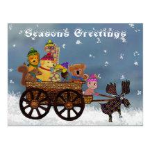 Wild Winter Hayride Post Card