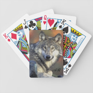 Wild Wolf Bicycle Playing Cards