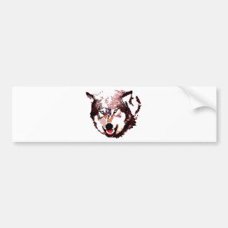 Wild Wolf Bumper Sticker