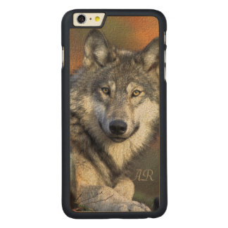 Wild Wolf Carved Maple iPhone 6 Plus Case