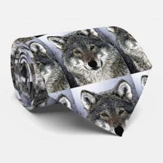 Wild Wolf Eyes Artwork Tie