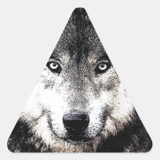 Wild Wolf Eyes Triangle Sticker