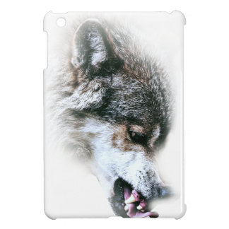 Wild Wolf Face Angry Eating iPad Mini Case