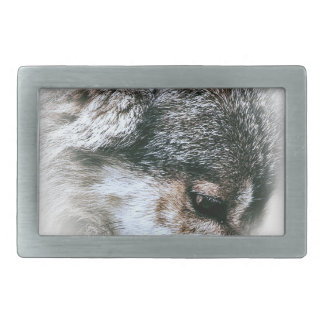 Wild Wolf Face Angry Eating Rectangular Belt Buckle