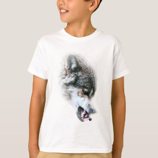 Wild Wolf Face Angry Eating Tees