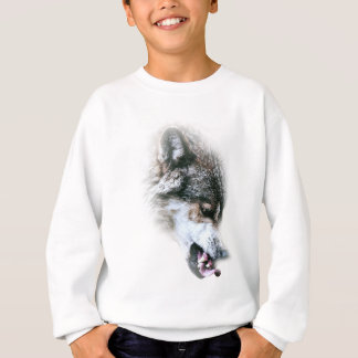 Wild Wolf Face Angry Eating Tshirts