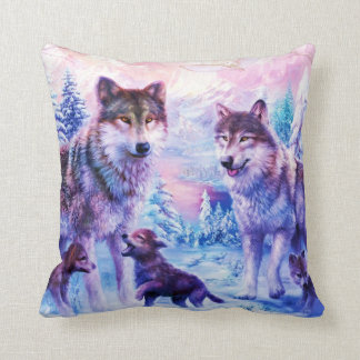 Wild Wolf Family Cushion