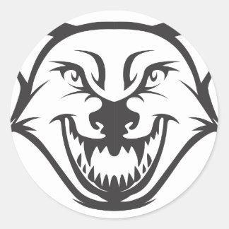 Wild Wolf Round Sticker