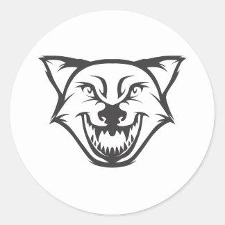 Wild Wolf Round Stickers