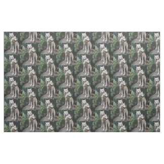 Wild Wolves Fabric