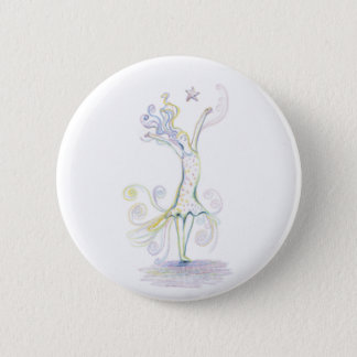 Wild Woman 6 Cm Round Badge