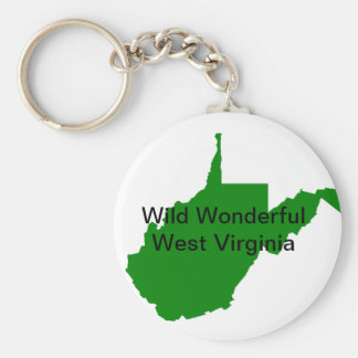 Wild Wonderful West Virginia Key Ring