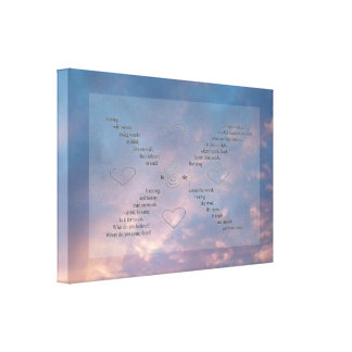 """Wild Words"" Blue/ Pink Sunset Sky -Thicker Canvas Canvas Print"