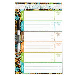 Wild World - Kids' To-Do List / Schedule / Chores Dry Erase Board
