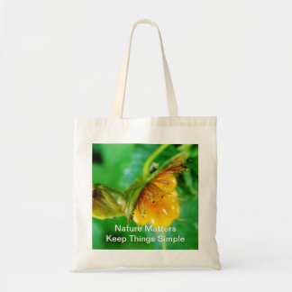 wild yellow berry nature gift canvas bags