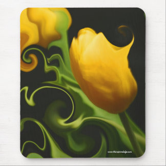 Wild Yellow Tulip Nature Surreal Mouse Pad