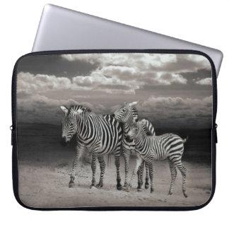 Wild Zebra Socialising in Africa Computer Sleeves