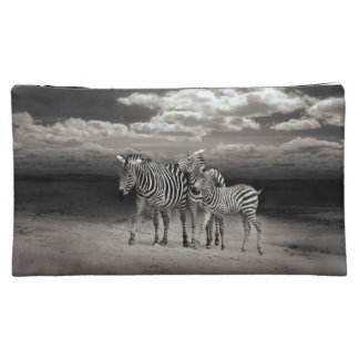 Wild Zebra Socialising in Africa Cosmetic Bag