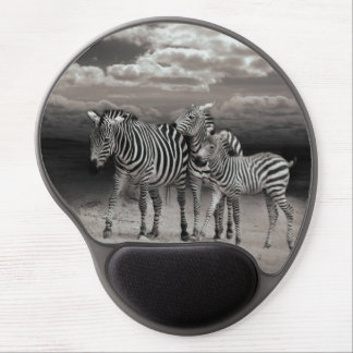 Wild Zebra Socialising in Africa Gel Mouse Pad