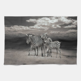 Wild Zebra Socialising in Africa Kitchen Towels