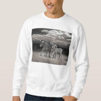 Wild Zebra Socialising in Africa Pull Over Sweatshirts