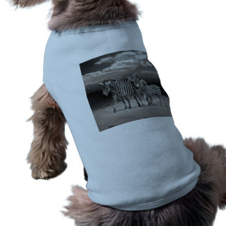 Wild Zebra Socialising in Africa Sleeveless Dog Shirt