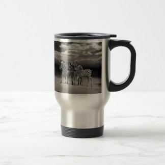 Wild Zebra Socialising in Africa Stainless Steel Travel Mug