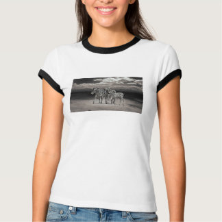 Wild Zebra Socialising in Africa T-shirt