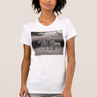 Wild Zebra Socialising in Africa Tee Shirt