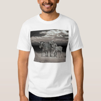 Wild Zebra Socialising in Africa Tshirt