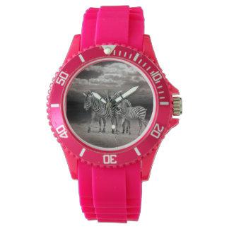 Wild Zebra Socialising in Africa Wrist Watches