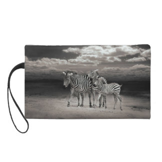 Wild Zebra Socialising in Africa Wristlet