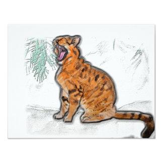 wildcat 11 cm x 14 cm invitation card