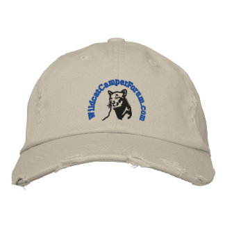Wildcat blue logo distressed style embroidered cap