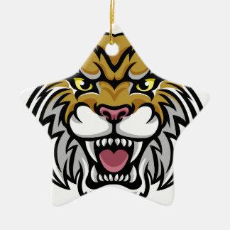 Wildcat Bobcat Mascot Christmas Ornament