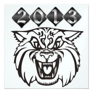 Wildcat Graduation - SRF 13 Cm X 13 Cm Square Invitation Card