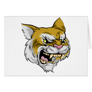 Wildcat mascot character greeting cards