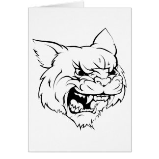 Wildcat mascot character card