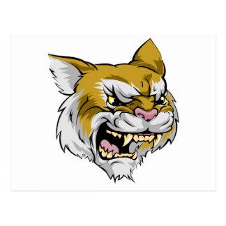 Wildcat mascot character post cards